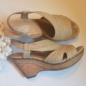 🧡 Naturalizer Sling Back Wedge Sandals